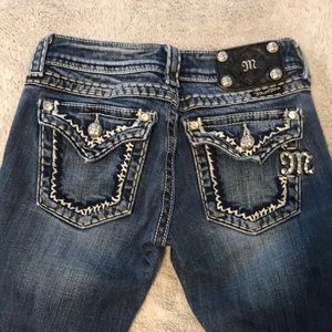 Size 24 miss me boot cut jeans